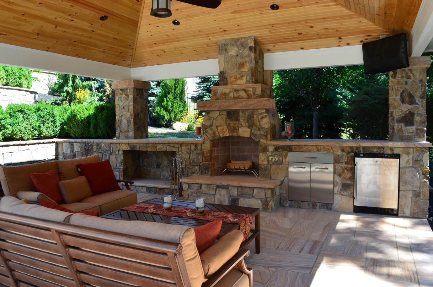 Outdoor living outdoor kitchen fireplace design services teraionfo